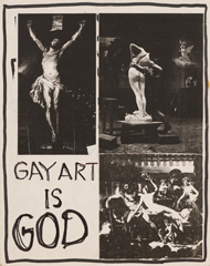 Gay Art Is God Positive Protest Poster